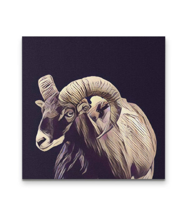 Goat Wall Canvas Art - Panbiii online
