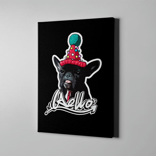 Custom Hand-drawn Pet Canvas Art (With Hat) - Panbiii online