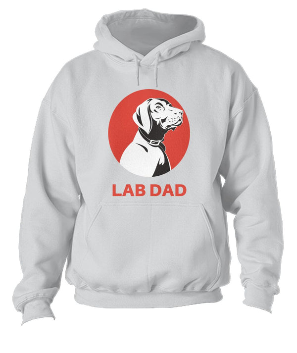 I Am A Lab Dad Unisex Hoodie- Perfect Dog Owner Gifts - Panbiii online
