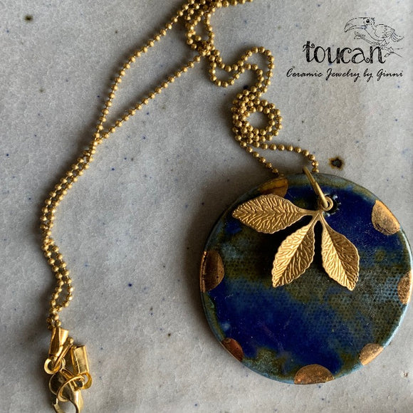 Deepblue Sea : Gold Lined Neckpiece