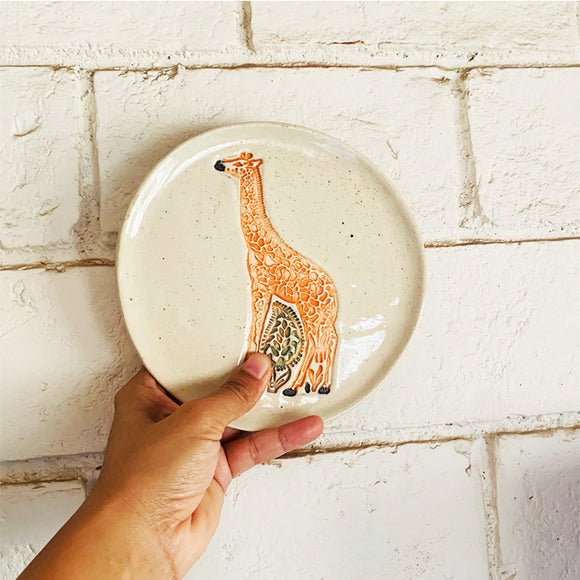 Giraffe Wall Plate - Medium- Single Piece