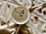 White and Gold Hand Painted Small Bowl -Single Piece
