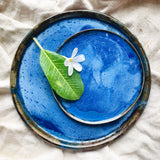 Handmade Ceramic Plate - Deep Blue Sea