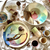 Pastels on Ceramics -  Dinner Plate