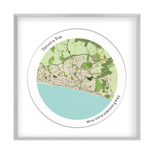 Personalised Circular Map Print