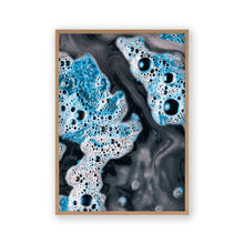 Blue White Paint Swirls No3 Print - Blim & Blum