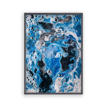 Load image into Gallery viewer, Blue White Paint Swirls Print - Blim & Blum