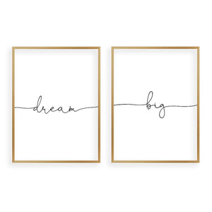 Dream Big - Set Of 2 Prints - Blim & Blum