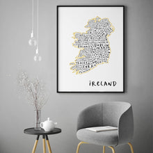 Ireland Typography Map Print