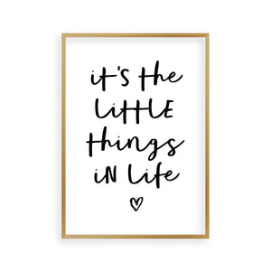 It's The Little Things In life Print - Blim & Blum