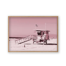 Load image into Gallery viewer, Life Guard Tower Pink Print - Blim & Blum