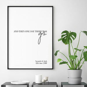 Personalised And Then One Day There Was You Names Print - Blim & Blum