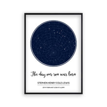 Personalised Day You Were Born Stars Print - Blim & Blum