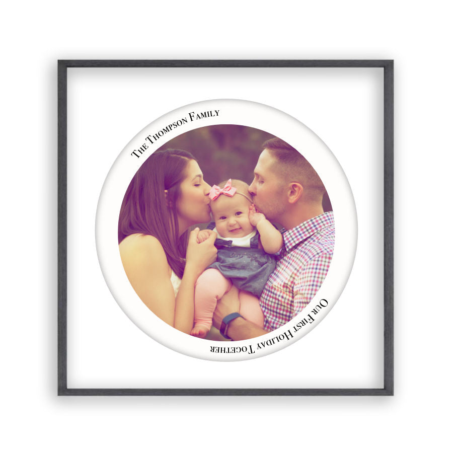 Personalised Circular Photo Print