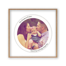 Load image into Gallery viewer, Personalised Circular Photo Print