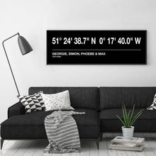 Load image into Gallery viewer, Personalised Coordinates Bus Blind Print
