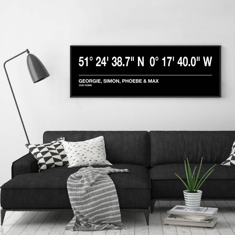 Personalised Coordinates Bus Blind Print