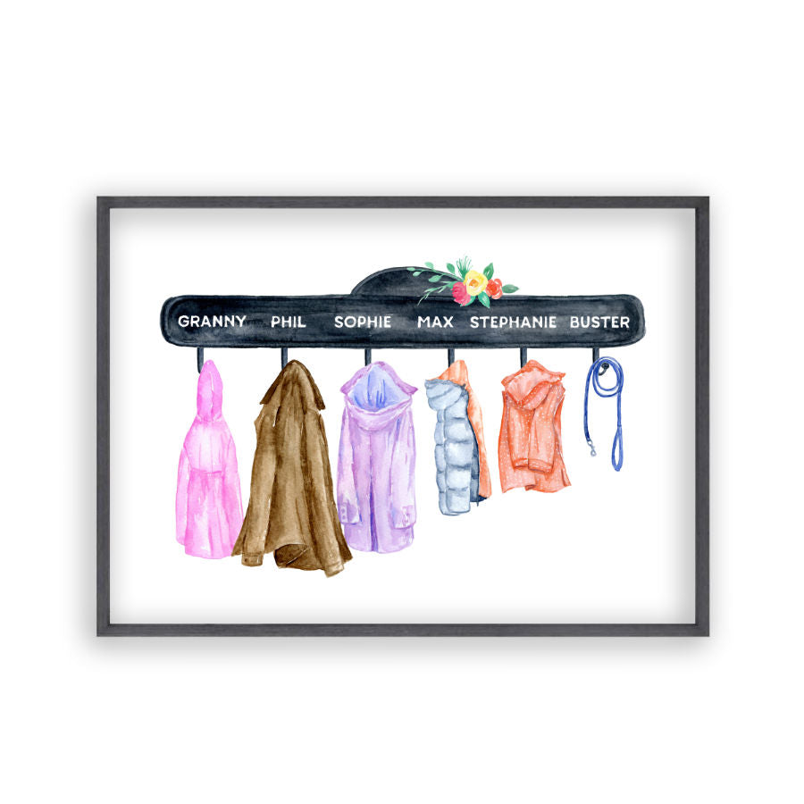 Personalised Family Names Coat Print