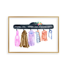 Load image into Gallery viewer, Personalised Family Names Coat Print