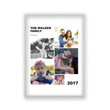Load image into Gallery viewer, Personalised Family Photographs Collage Print - Blim & Blum