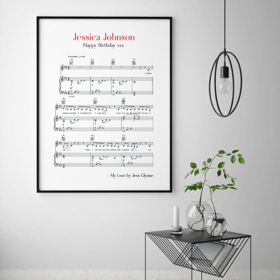 favourite song print