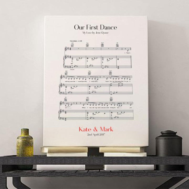 sheet music canvas
