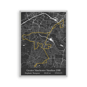 Personalised Greater Manchester Marathon Map Print