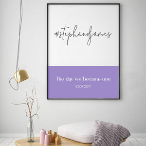 Personalised Hashtag Wedding Print - Blim & Blum