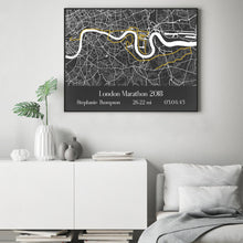 Load image into Gallery viewer, Personalised London Marathon Map Print
