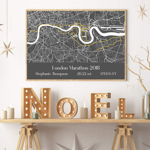 Personalised London Marathon Map Print