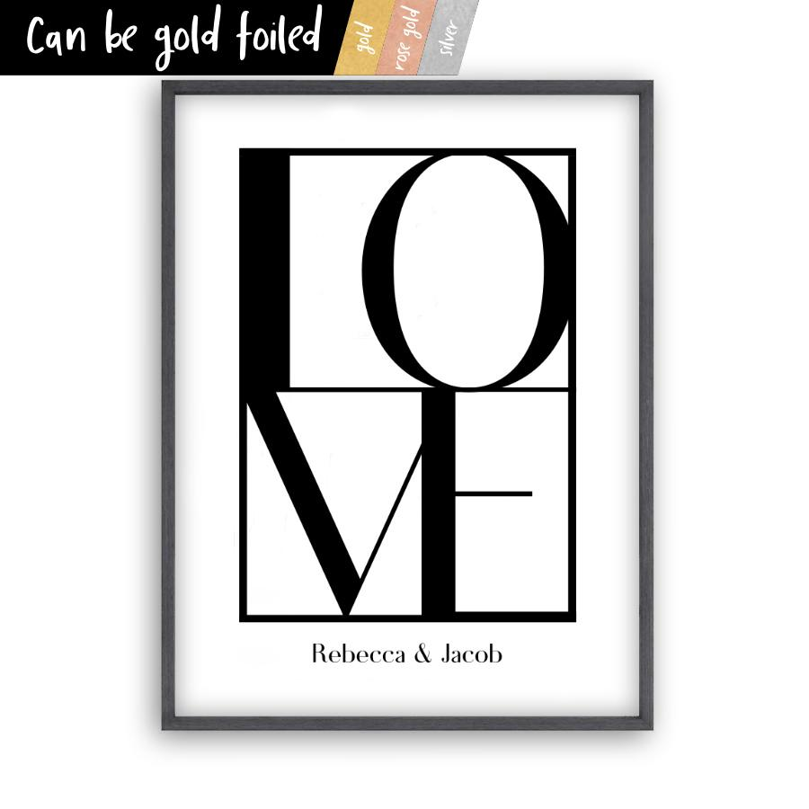 Personalised Love Print - Blim & Blum