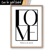 Load image into Gallery viewer, Personalised Love Print - Blim & Blum