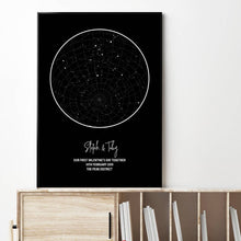 Load image into Gallery viewer, Personalised Star Map Night Sky Print