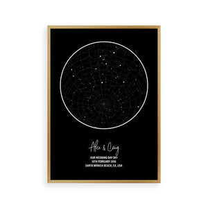 Personalised Star Map Night Sky Print