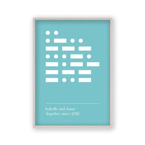 Personalised Morse Code Message Print - Blim & Blum