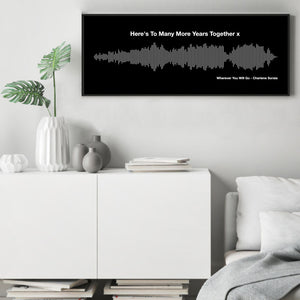 Personalised Sound Wave Bus Blind Print
