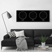 Load image into Gallery viewer, Personalised Trio Of Star Maps Print