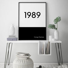 Load image into Gallery viewer, Personalised Typographic Year Print - Blim & Blum