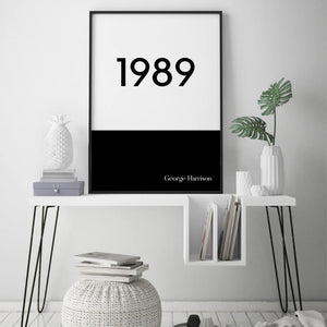 Personalised Typographic Year Print - Blim & Blum