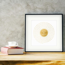 Load image into Gallery viewer, Personalised Vinyl Metallic Foil First Dance Song Record Lyrics Print - Blim & Blum