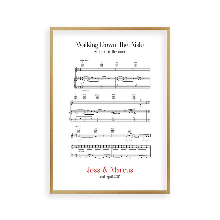 Songs To Walk Down The Aisle To 2013: Personalised Walking Down The Aisle Music Sheet Notes