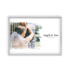 Personalised Watercolour Couple Photo Print - Blim & Blum
