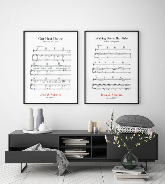 Personalised Wedding Day - Set Of 2 Prints