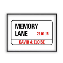 Load image into Gallery viewer, Personalised Wedding London Street Sign - Blim & Blum
