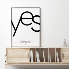 Personalised Yes Engagement Print