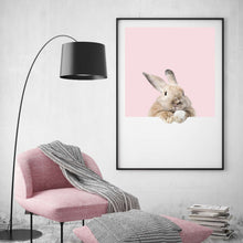 Load image into Gallery viewer, Rabbit Peeking Print