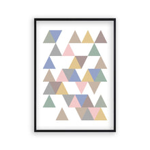 Load image into Gallery viewer, Triangle Pastel Print - Blim & Blum