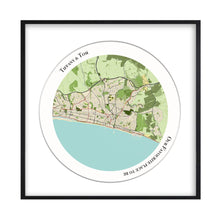 Load image into Gallery viewer, Personalised Circular Map Print