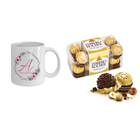 Ferrero Rocher + Personalised mug - Idee Kreatives