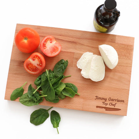 Personalised wooden cutting boards - Idee Kreatives